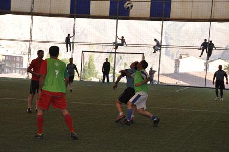 Hakkari turnuvasında final maçı oynandı 1