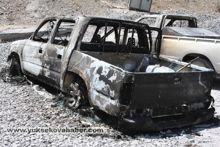 Baraj yapımında çalışan araçlar ateşe verildi 19