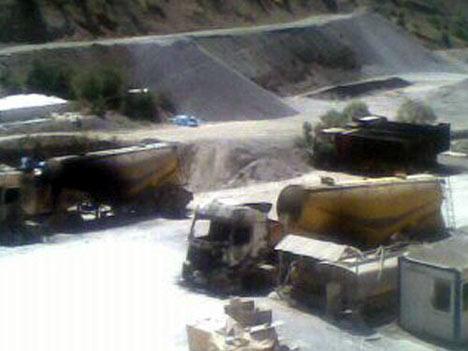 Baraj yapımında çalışan araçlar ateşe verildi 7