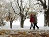 Avrupa'ya yılın ilk karı yağdı