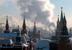 Moskova'ya yüzyılın kar yağışı