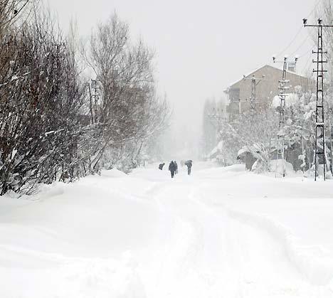 Yüksekova'da kar yağışı 10