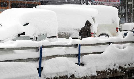 Yüksekova'da kar yağışı 2