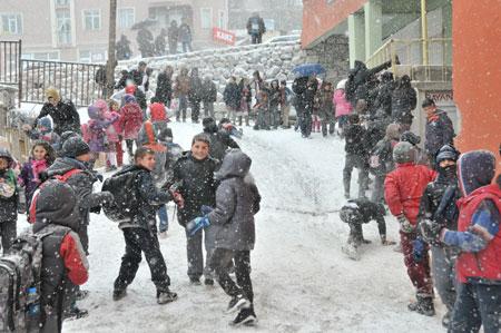 Hakkari'de kar yağışı hayatı olumsuz etkiliyor 15