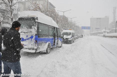 Kar yağışı Yüksekova'yı esir aldı 15