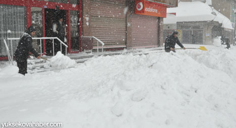Kar yağışı Yüksekova'yı esir aldı 28