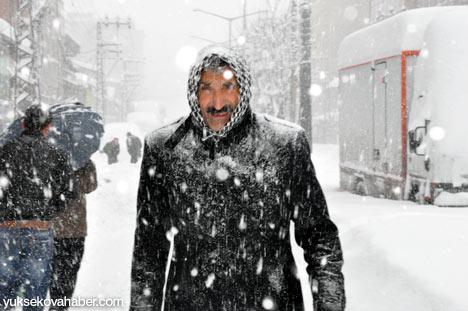 Kar yağışı Yüksekova'yı esir aldı 29