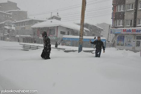 Kar yağışı Yüksekova'yı esir aldı 3