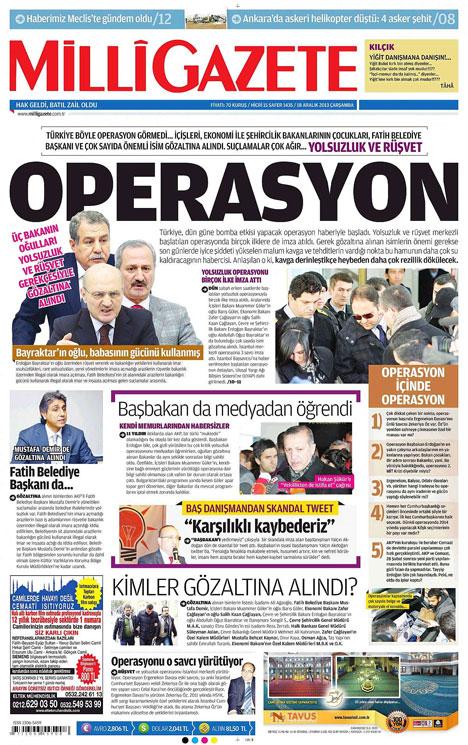Manşetlerde yolsuzluk operasyonu 16