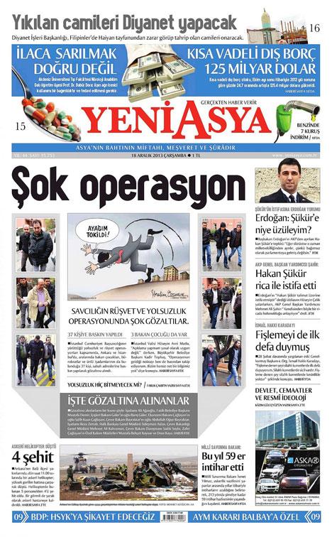 Manşetlerde yolsuzluk operasyonu 28