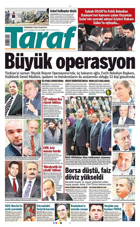 Manşetlerde yolsuzluk operasyonu 6