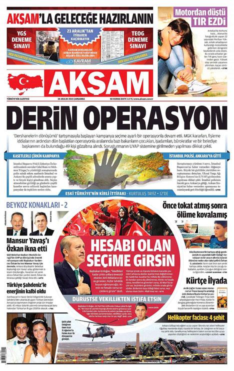 Manşetlerde yolsuzluk operasyonu 8