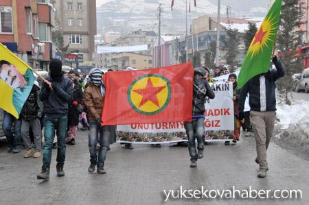 Hakkari'de Roboski için yürüyüş düzenlendi 10