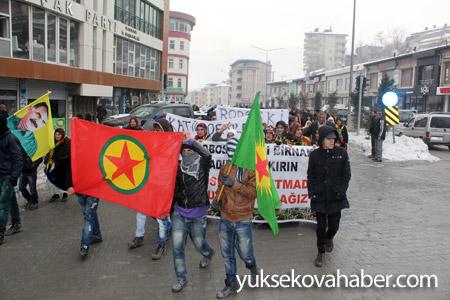 Hakkari'de Roboski için yürüyüş düzenlendi 16