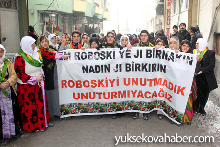 Hakkari'de Roboski için yürüyüş düzenlendi 6