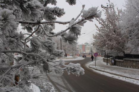 Ağrı'dan kar manzaraları 7