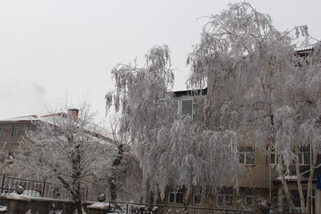 Ağrı'dan kar manzaraları 9