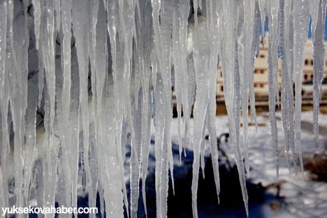 Erzurum'da Sibirya soğukları buzlu sanata dönüştü 13