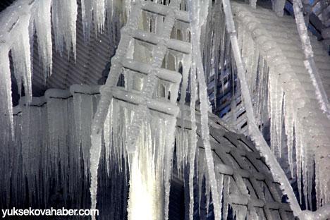 Erzurum'da Sibirya soğukları buzlu sanata dönüştü 4