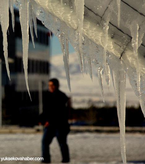Erzurum'da Sibirya soğukları buzlu sanata dönüştü 8