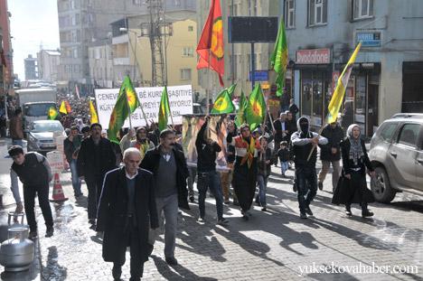 Hakkari'de Cenevre'yi protesto yüryüşü 12