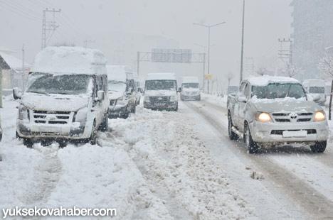 Yüksekova'da kar yağışı 12