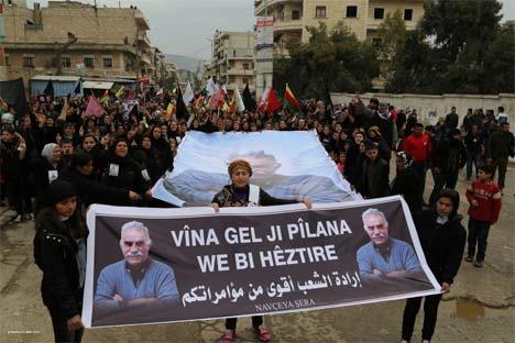 Rojava Öcalan için ayakta 18