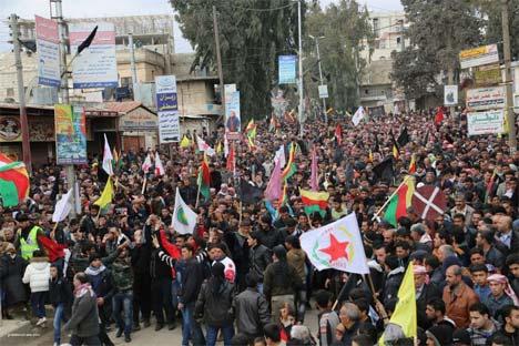 Rojava Öcalan için ayakta 9