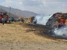 Yüksekova'daki yangında 40 bin bağ ot yandı