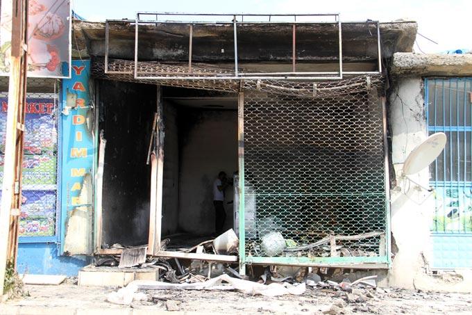 HDP Derecik belde binası ateşe verildi