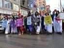 Yüksekova'da kadına yönelik şiddet protestosu