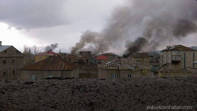 Yüksekova'dan bombardıman ve çatışma izleri 1