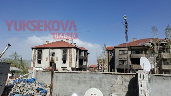 Yüksekova'nın o mahallesinde çatışma ve bombardıman izleri 1