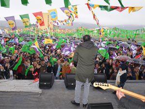 HDP'nin Yüksekova mitinginden fotoğraflar