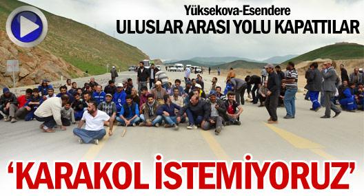 Yüksekova'da karakol protestosu