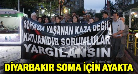 Diyarbakır'da Soma'ya Destek Yürüyüşü