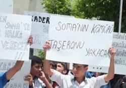 Çukurca'da Soma için sessiz yürüyüş
