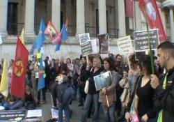 Trafalgar'da Soma protestosu