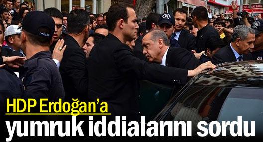 HDP Erdoğan'a yumruk iddialarını sordu