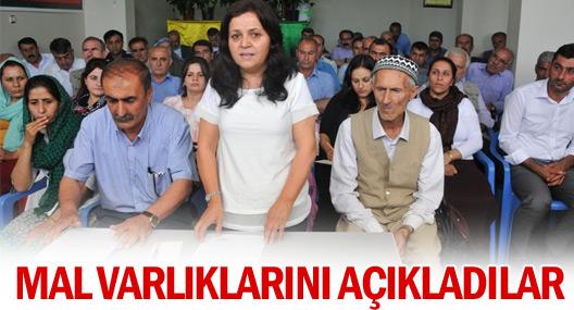 Silopi Belediyesi Eş Başkanları İle Meclis Üyeleri Mal Varlıklarını Açıkladı