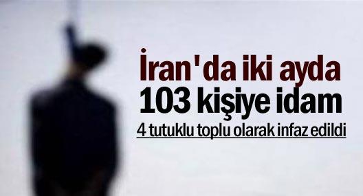 İran'da 21 Marttan bu yana 103 idam