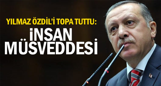 Erdoğan Özdil'i topa tuttu
