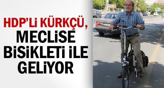 Hdp'li Kürkçü, Meclise Bisikleti İle Geliyor