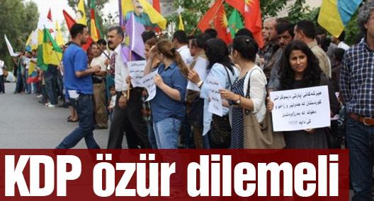 Süleymaniye'de protesto: KDP özür dilemeli