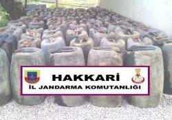 Hakkari'de 4 Ton Kaçak Akaryakıt Ele Geçirildi