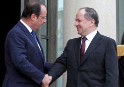Barzani Paris'te Fransız Cumhurbaşkanı ile görüştü