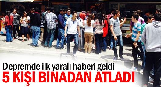 Depremde ilk yaralı haberi Şarköy'den geldi