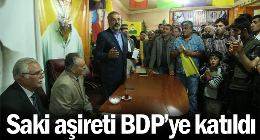Saki aşireti BDP'ye katıldı