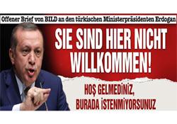 Bild'den Erdoğan'a çok sert manşet!