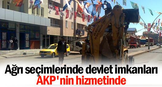 Ağrı seçimlerinde devlet imkanları AKP'nin hizmetinde